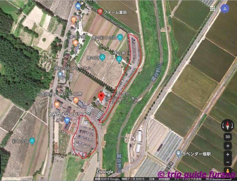 7月 ファーム富田 駐車場 混んでる