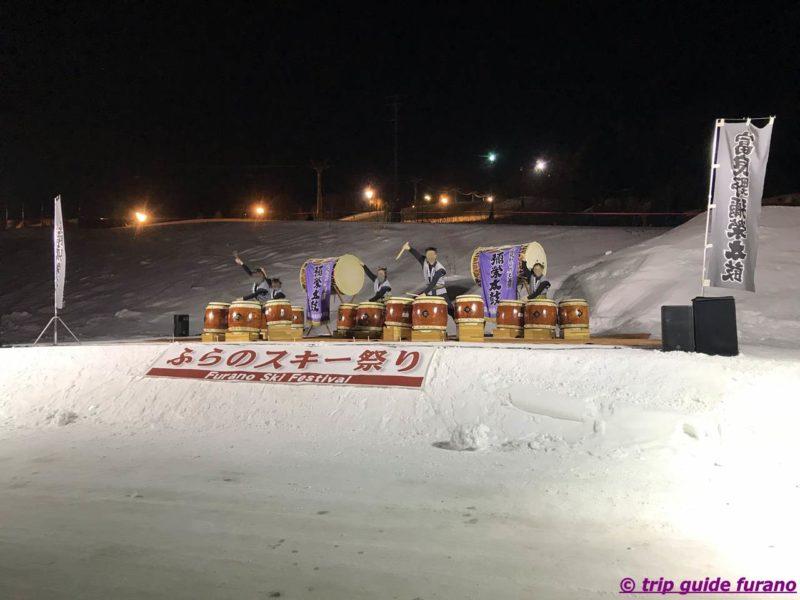 ふらの スキー祭り 2020 和太鼓